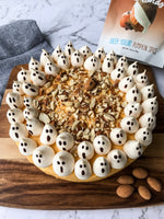 Halloween Greek Yogurt Pumpkin Spice Cheesecake