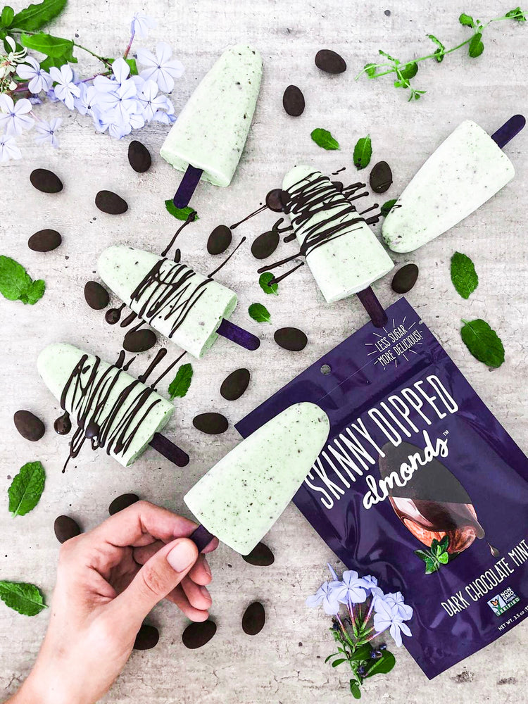 Skinny Dipped Chocolate Mint Popsicles