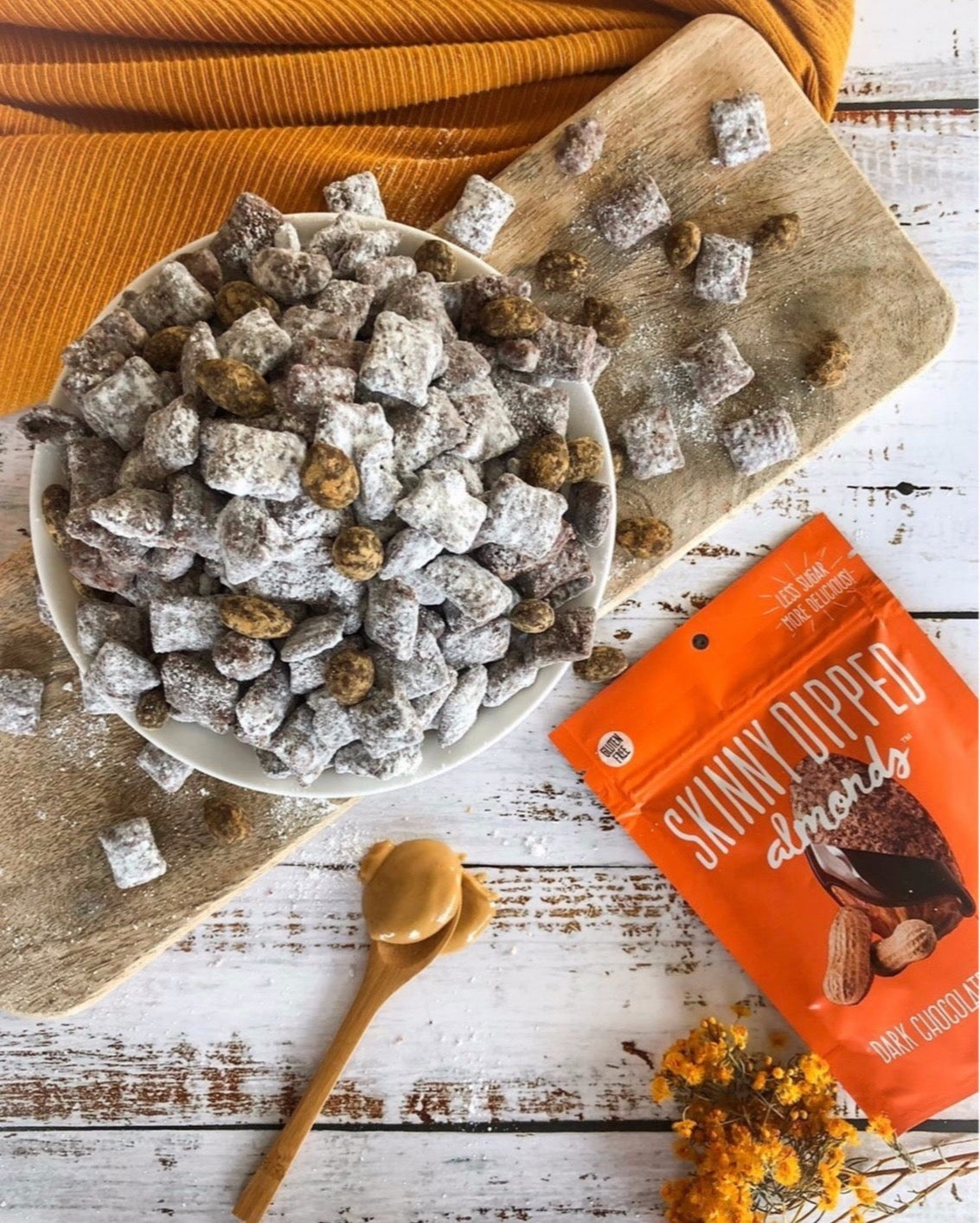 SkinnyDipped Almonds Puppy Chow
