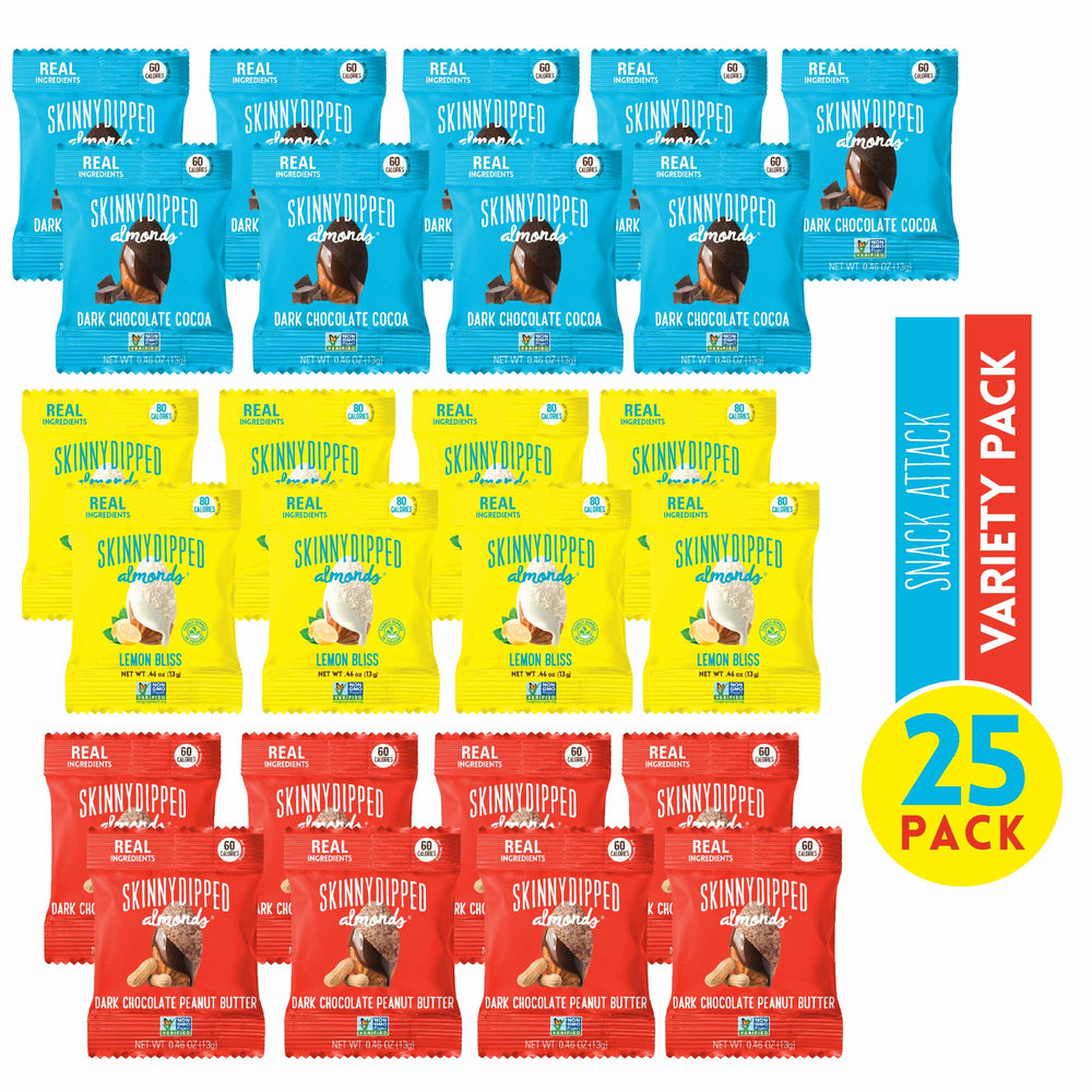 Snack Attack Minis Original Flavors Almond Variety Pack - .46oz, 25-pack