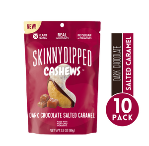 Dark Chocolate Salted Caramel Cashews-3.5oz Pouch   10 Pack