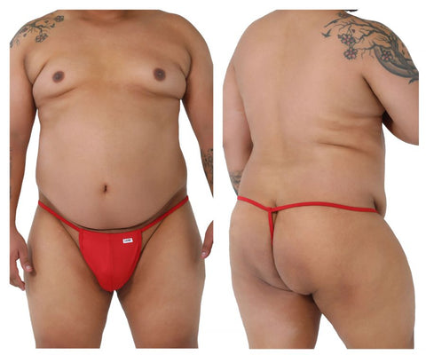CandyMan 9586X Thongs Color Red
