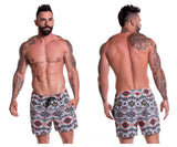 JOR 0772 Tribal Short Swim Trunks Color Printed