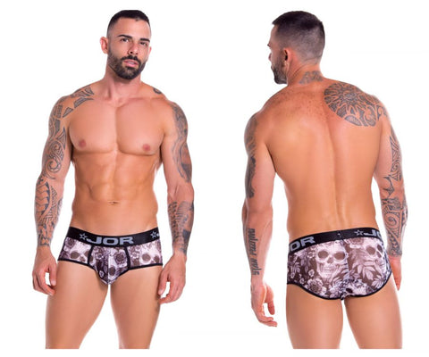 JOR 0879 Skull Briefs Color Printed