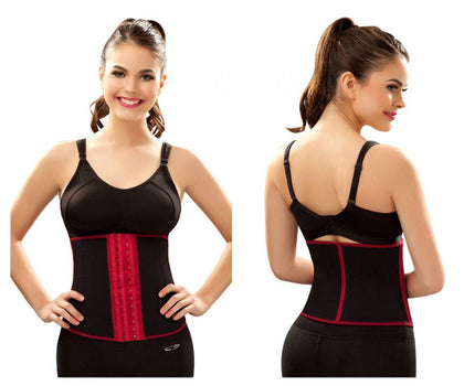 Vedette 348 Zoe Waist Cincher Color Black-Red