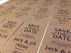 Retro magnetic save the date cards