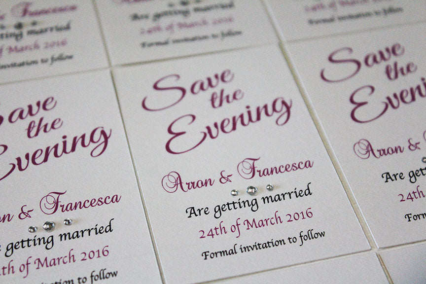 magnetic save the date cards p e events ltd