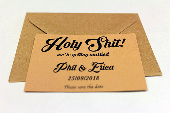 Holy Shit Magnetic Save The Date cards