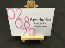 A7 Magnetic save the date cards