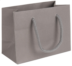 5 x Landscape Grey Paper Gift Bag With Rope Handles