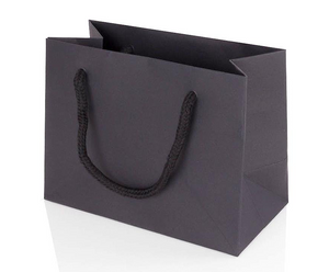 5 x Landscape Black Paper Gift Bag With Rope Handles