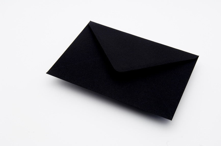 Black envelopes in 7 sizes