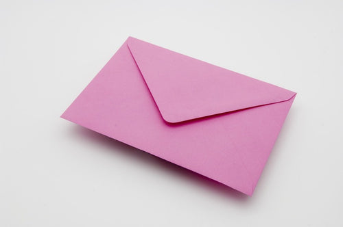 Candy pink envelopes in 4 sizes