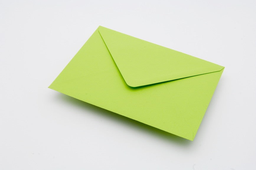 Bright Green envelopes in 4 sizes