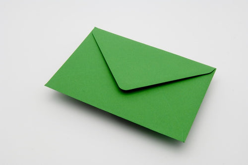 Meadow Green envelopes in 4 sizes