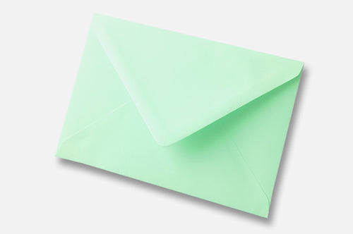 Mint Green envelopes in 4 sizes