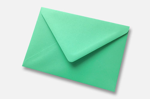 Warbler Green (Jade Green) envelopes in 4 sizes