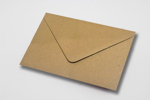 Kraft envelopes in 6 sizes