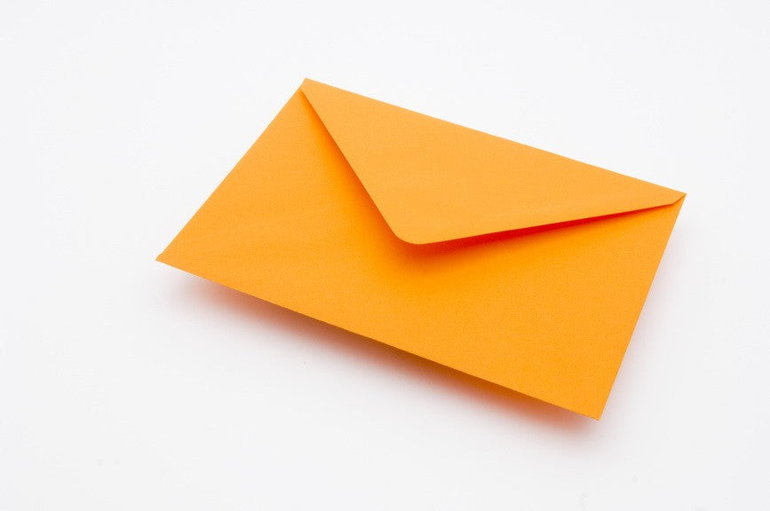 Orange envelopes in 4 sizes