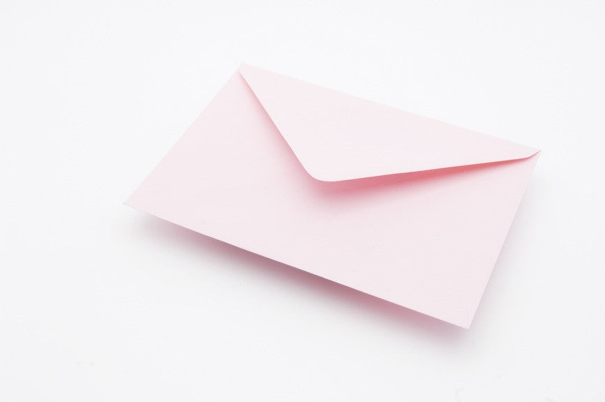 Soft Pink Baby Pink Envelopes in 6 sizes