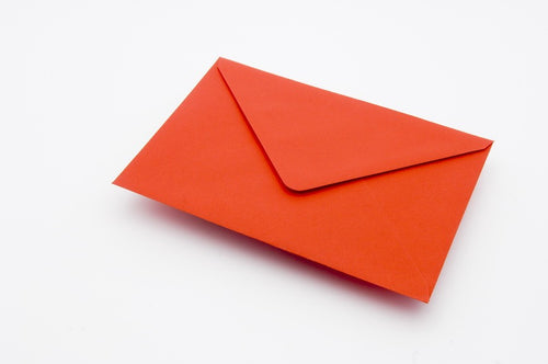 Poppy Red envelopes in 4 sizes