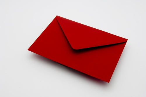 Crimson red envelopes in 5 sizes