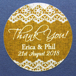 35MM & 45MM Custom round personalised thank you wedding stickers