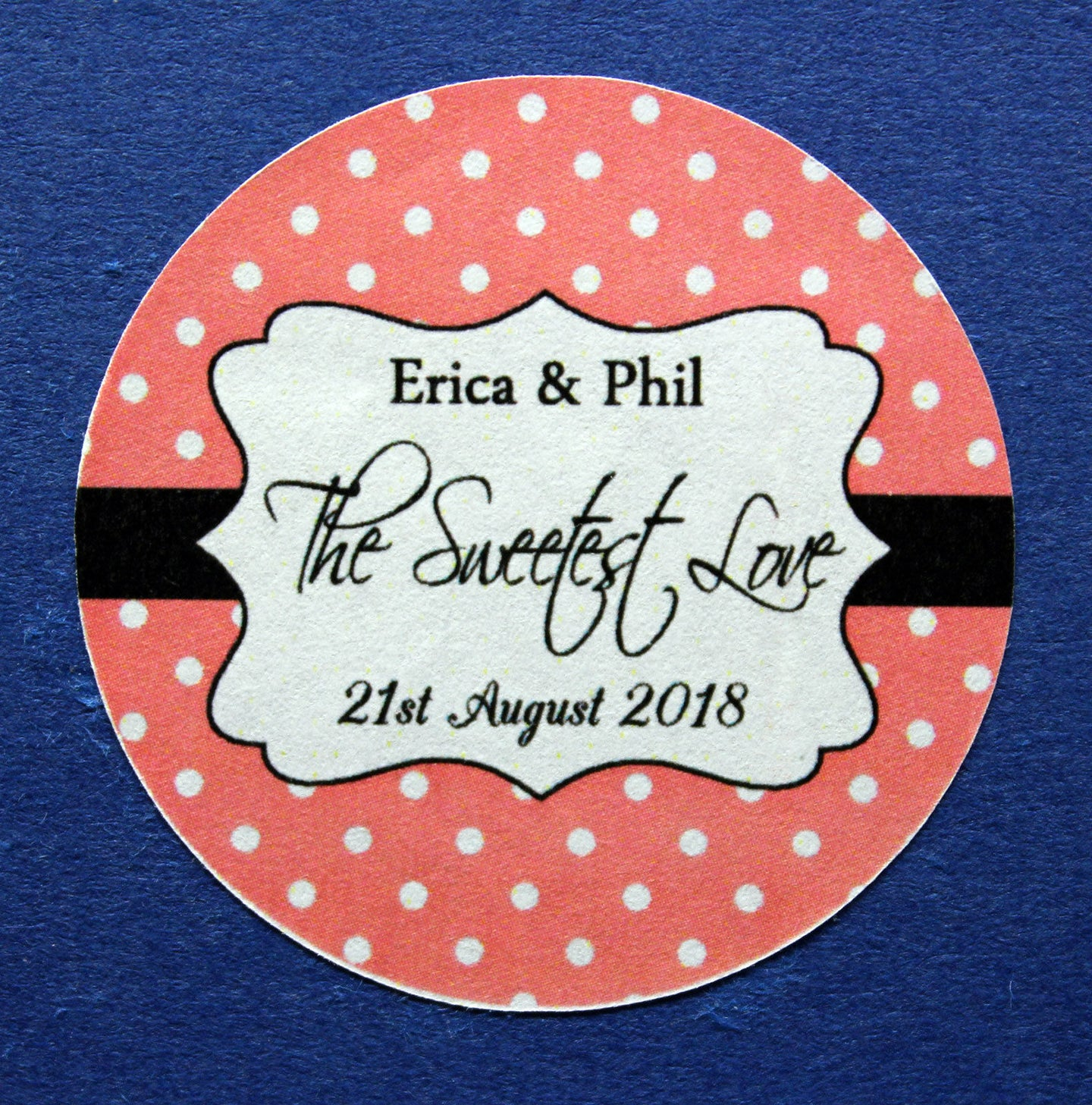 35MM & 45MM Custom round personalised the sweetest love stickers