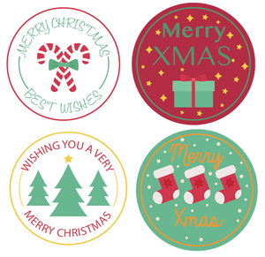24 X 40 mm Christmas stickers Multi pack