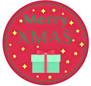 24 X 40 mm Merry Christmas stickers