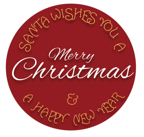 24-Pack 40mm RED & GREEN Merry Christmas Xmas Stickers