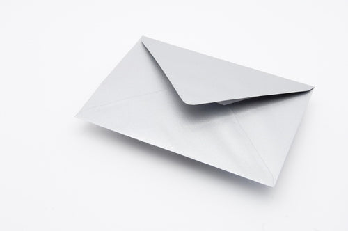 Silver Metallic envelopes in 6 sizes