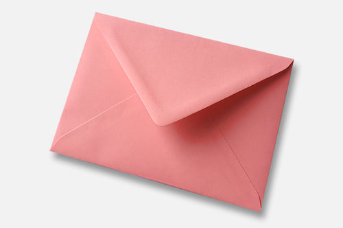 Sunrise Pink (blush pink) envelopes in 4 sizes