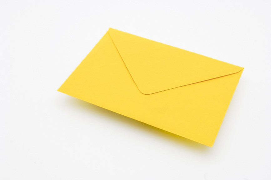 Canary Yellow envelopes in 4 sizes