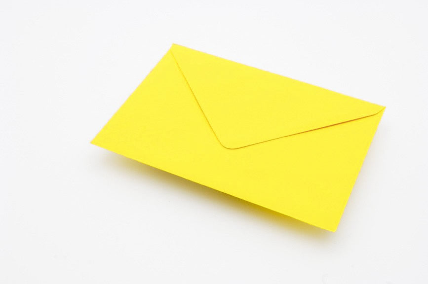 Lemon Yellow envelopes in 4 sizes