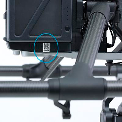 Where can I find my DJI Inspire 2 serial number?