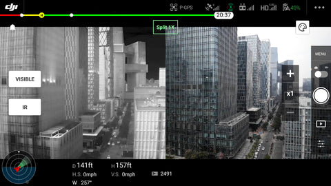 DJI Mavic 2 Enterprise Advanced Split View