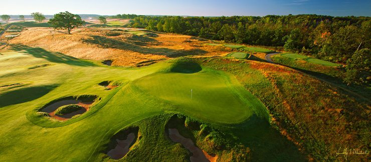 Erin Hills Hole 15 Aerial Drone Shot