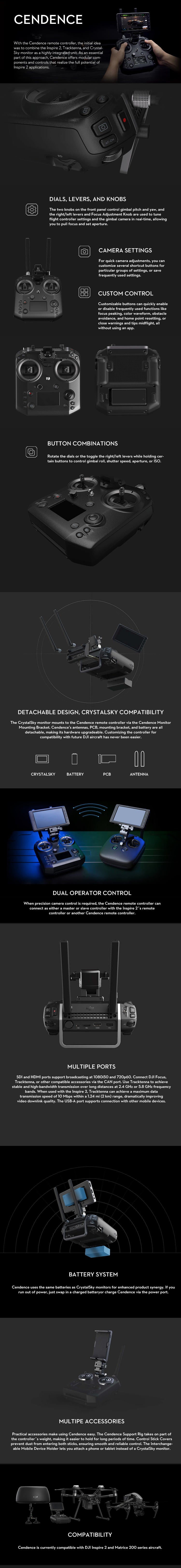 DJI Cendence Specs and Info
