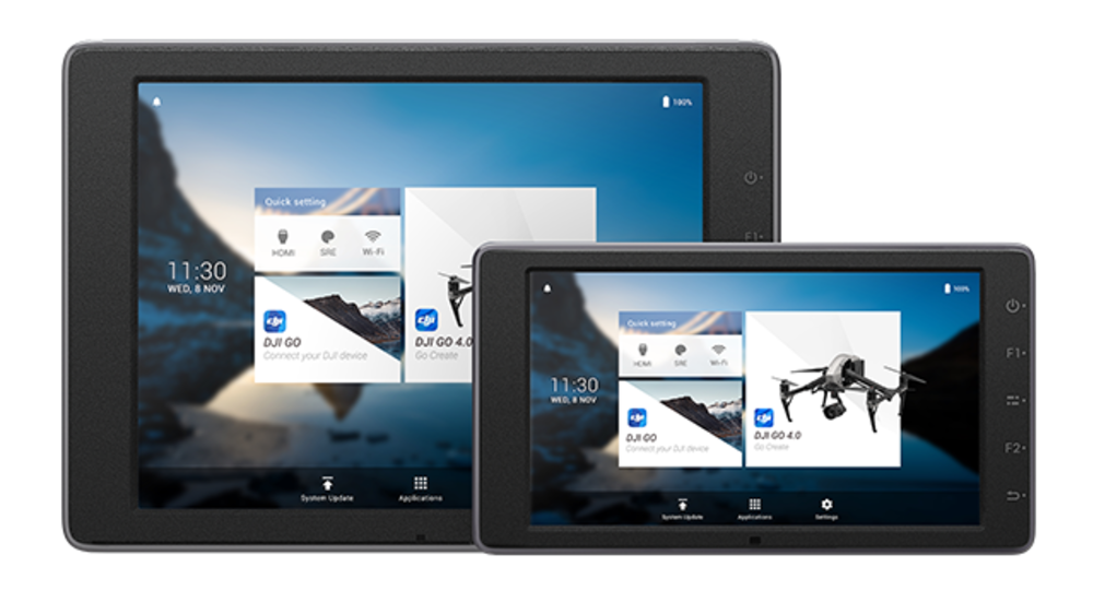 DJI CrystalSky External monitor displays