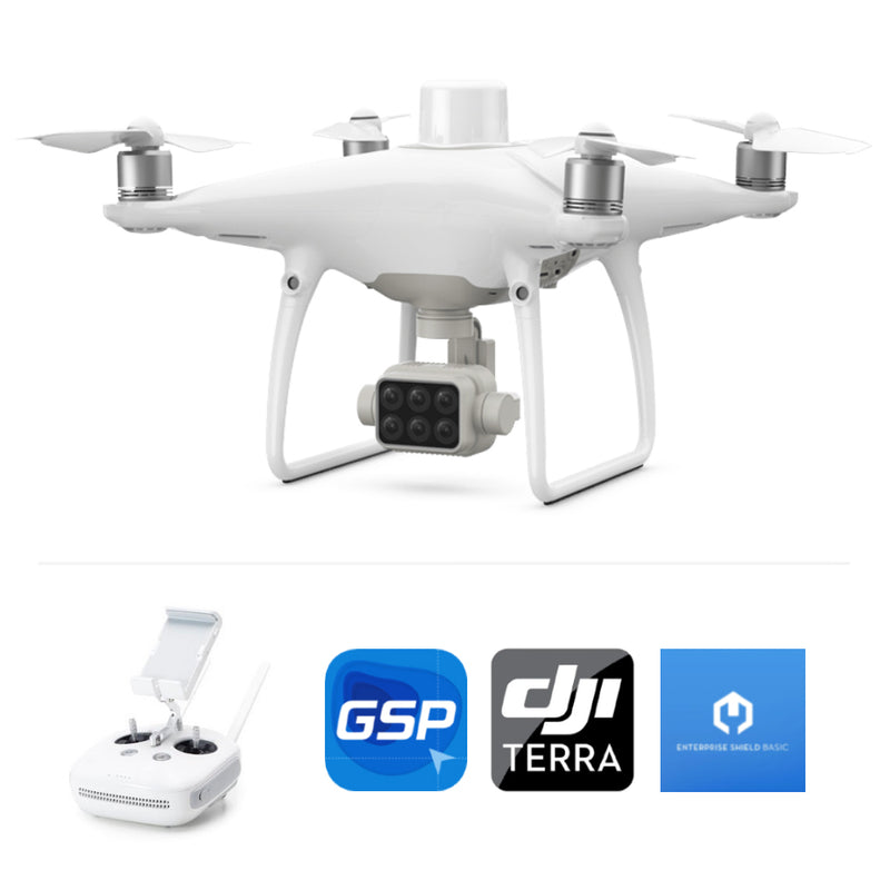 DJI P4 Multispectral Combo w/ GS Pro, Terra and Enterprise Shield Basic