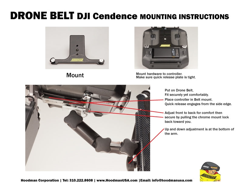 Hoodman Remote Control Support Belt for DJI Cendence