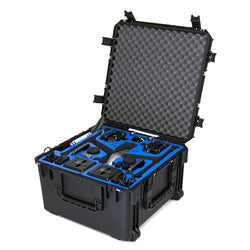 Go Professional Cases DJI Inspire 2 Cinema (Landing Mode) Wheeled Hard Case for X7, Cendence, CrystalSky & More