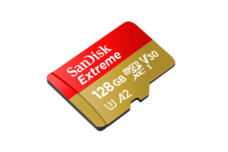 SanDisk 128GB Extreme Micro SD Card with Adapter