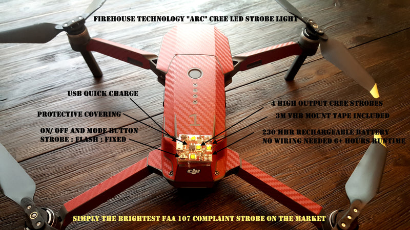 LED Strobe Light for Drones (Ultra Intensity) - FAA Night Waiver Compliant