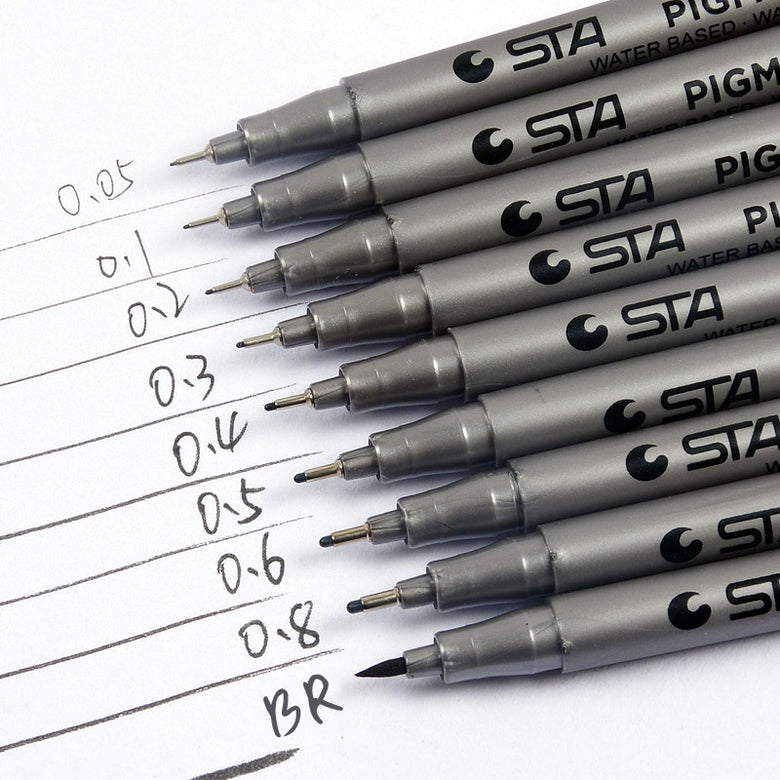 Fineliner Pen Set (9 pcs)