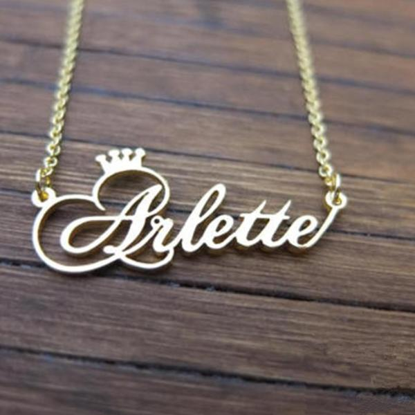 Personalized Crown Necklace