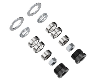 Set of bearings, hex nuts m6, oil seal, end-cap and washers for Assioma