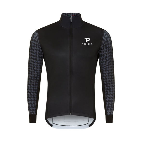 Baldo Long Sleeve Spring Jacket Houndstooth - Cigala Cycling Retail