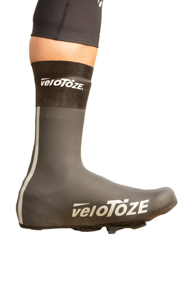 (NEW) veloToze Neoprene Shoe Cover (Waterproof Cuff Included) - Cigala Cycling Retail